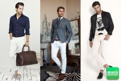 Những lưu ý cho phái mạnh khi chọn thời trang quần trắng