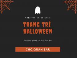 Dịch vụ trang trí Halloween quán bar giá rẻ TPHCM